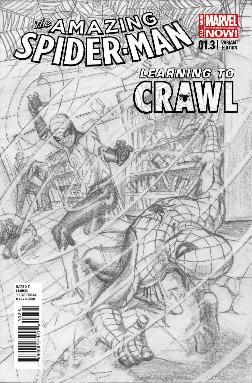 AMAZING SPIDER-MAN #1.3 ROSS SKETCH VAR