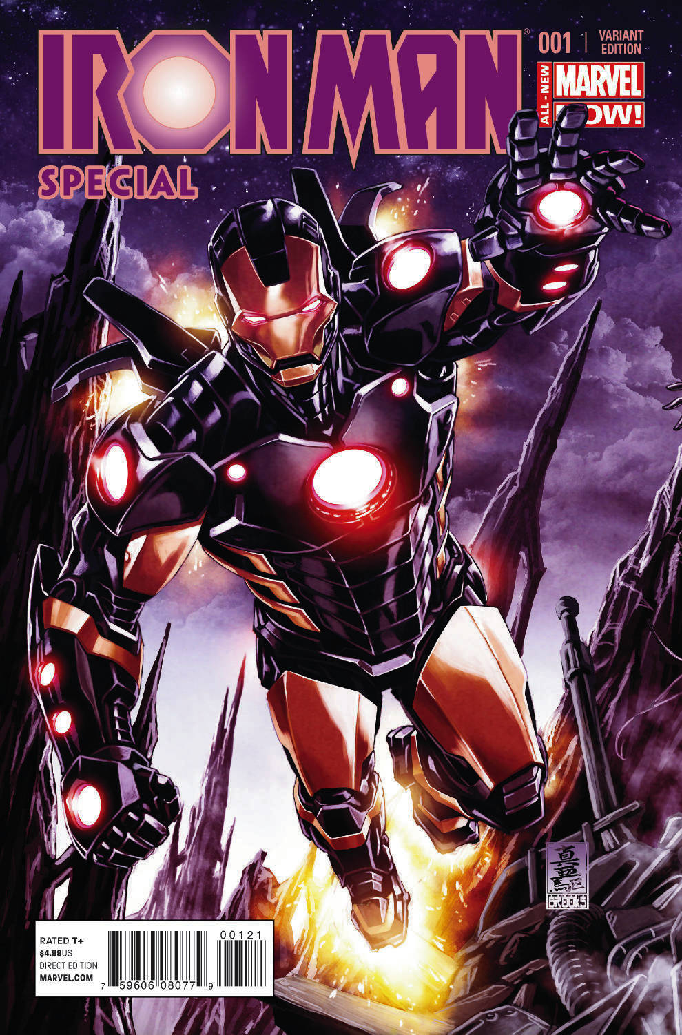 IRON MAN SPECIAL #1 INTERLOCKING BROOKS VAR