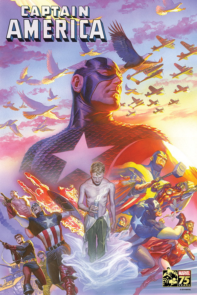 CAPTAIN AMERICA #22 75TH ANNIV BY ROSS POSTER