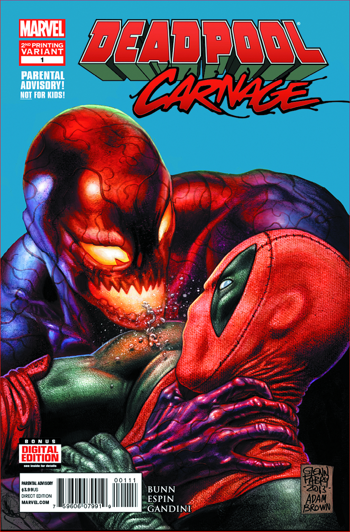 DEADPOOL VS CARNAGE #1 (OF 4) 2ND PTG FABRY VAR