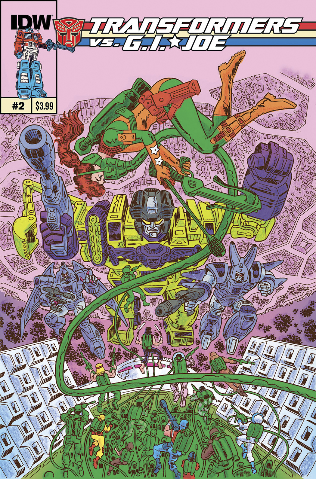 TRANSFORMERS VS GI JOE #2 10 COPY INCV