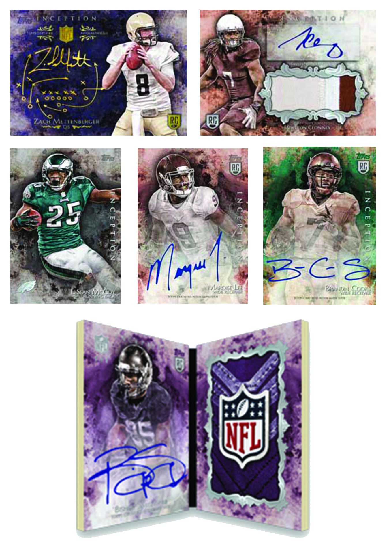 TOPPS 2014 INCEPTION FOOTBALL T/C BOX