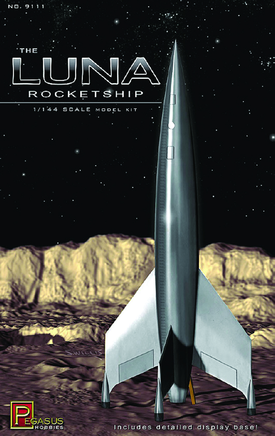 LUNA ROCKETSHIP 1/144 SCALE MODEL KIT