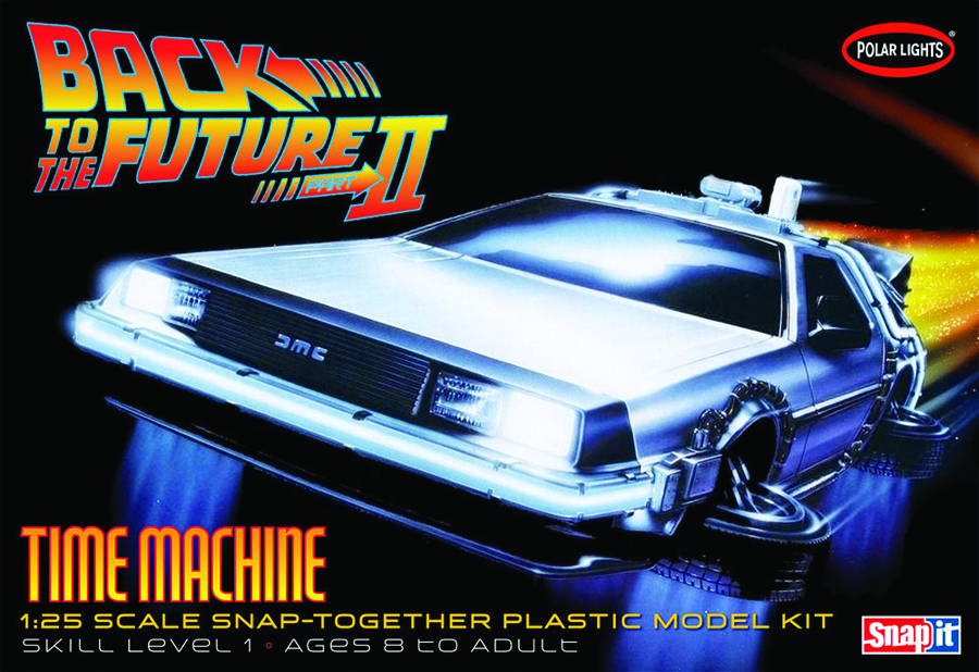 BTTF 2 TIME MACHINE 1/25 SCALE MODEL KIT