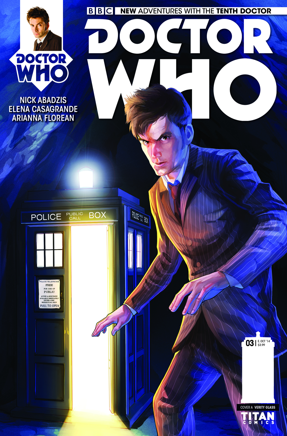 DOCTOR WHO 10TH #3 REG GLASS