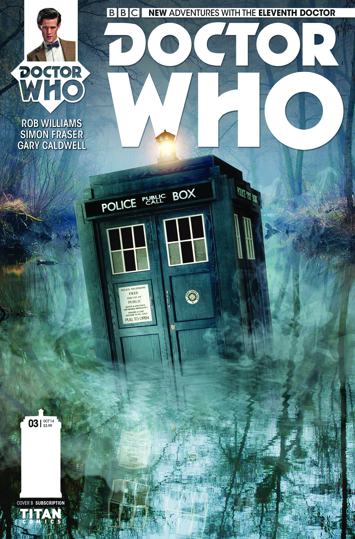 DOCTOR WHO 11TH #3 SUBSCRIPTION PHOTO