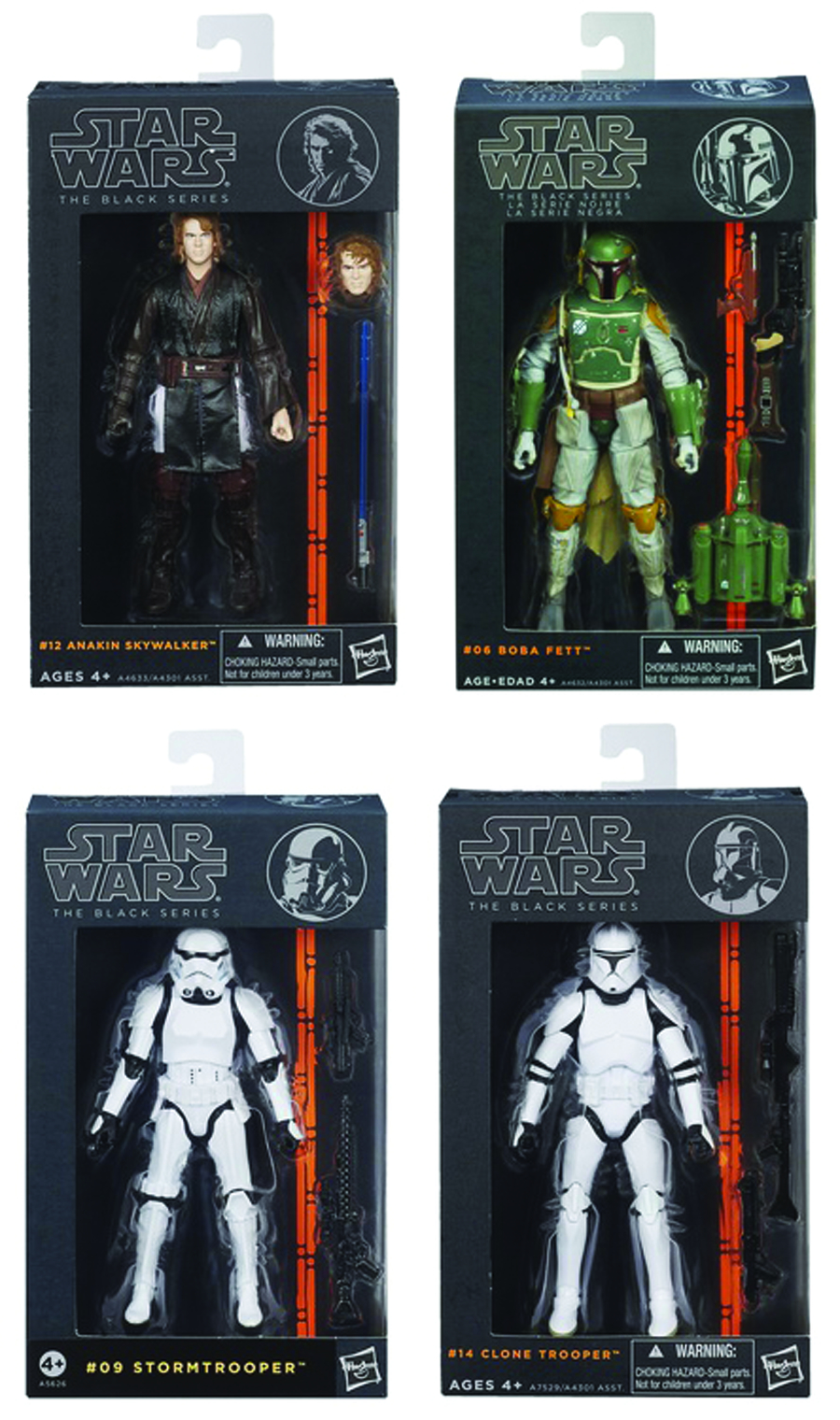 STAR WARS BLACK 6-IN AF ASST 201403