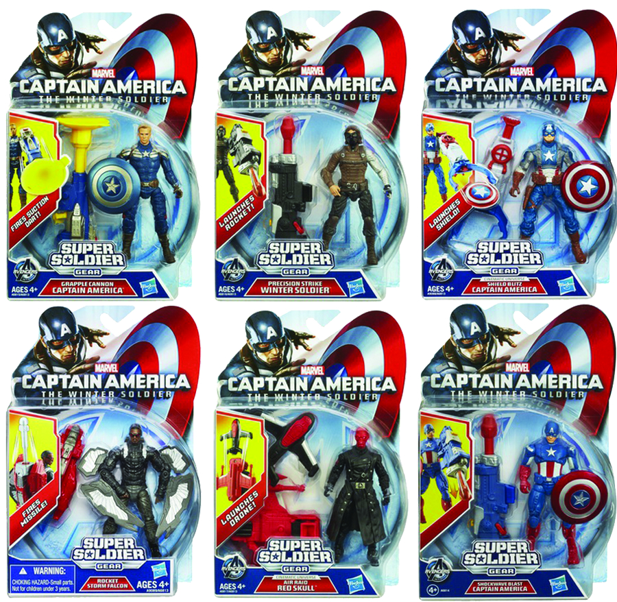 CAPTAIN AMERICA SUPER SOLDIER GEAR AF ASST 201404