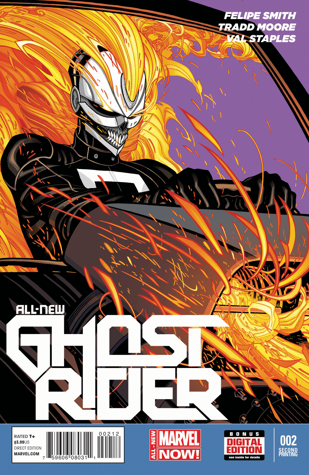ALL NEW GHOST RIDER #2 2ND PTG MOORE VAR