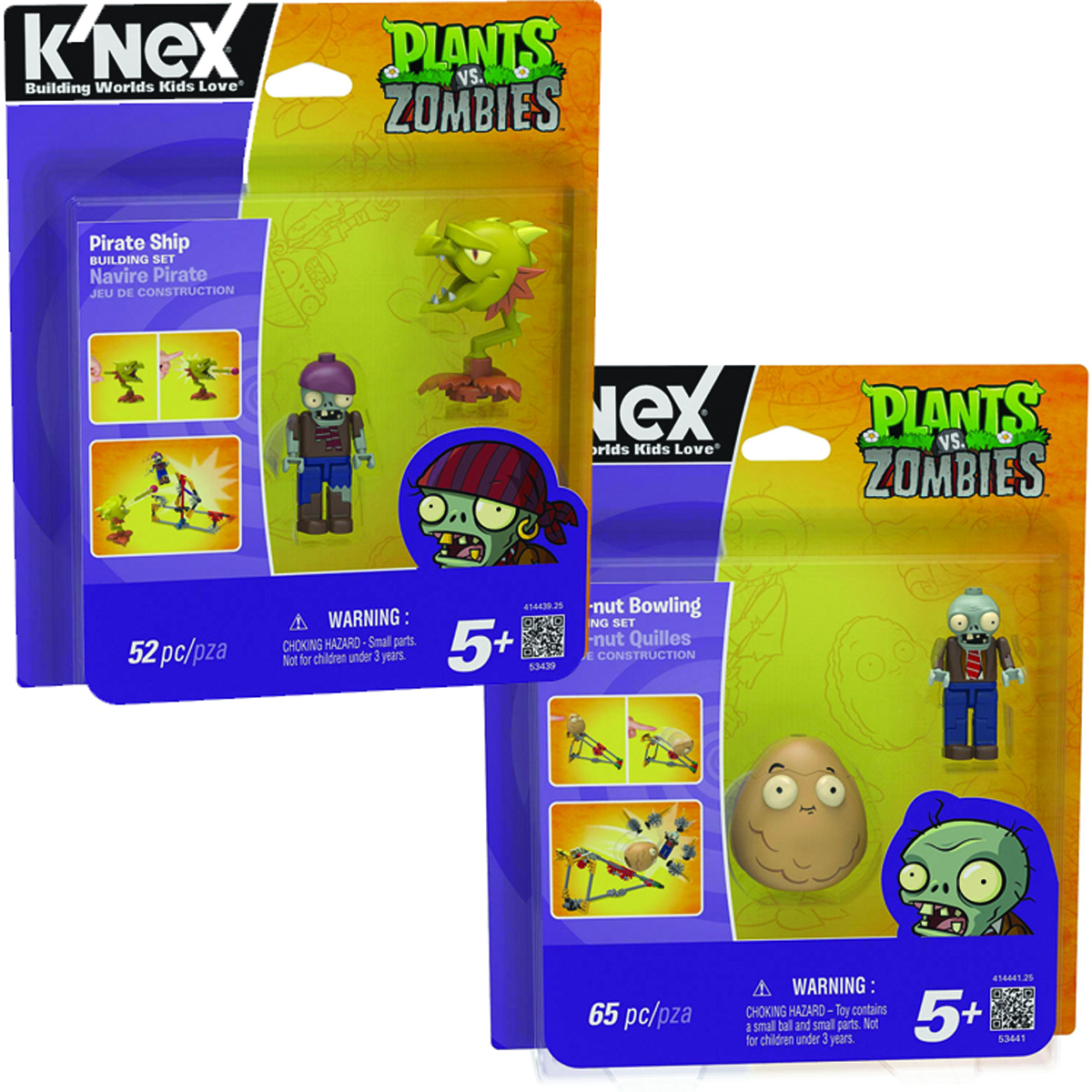 KNEX PVZ WALL-NUT BOWLING/PIRATE ASST