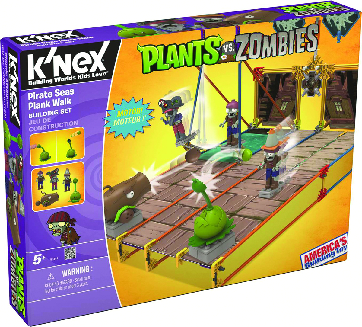KNEX PLANTS VS ZOMBIES PIRATE PLANK WALK SET