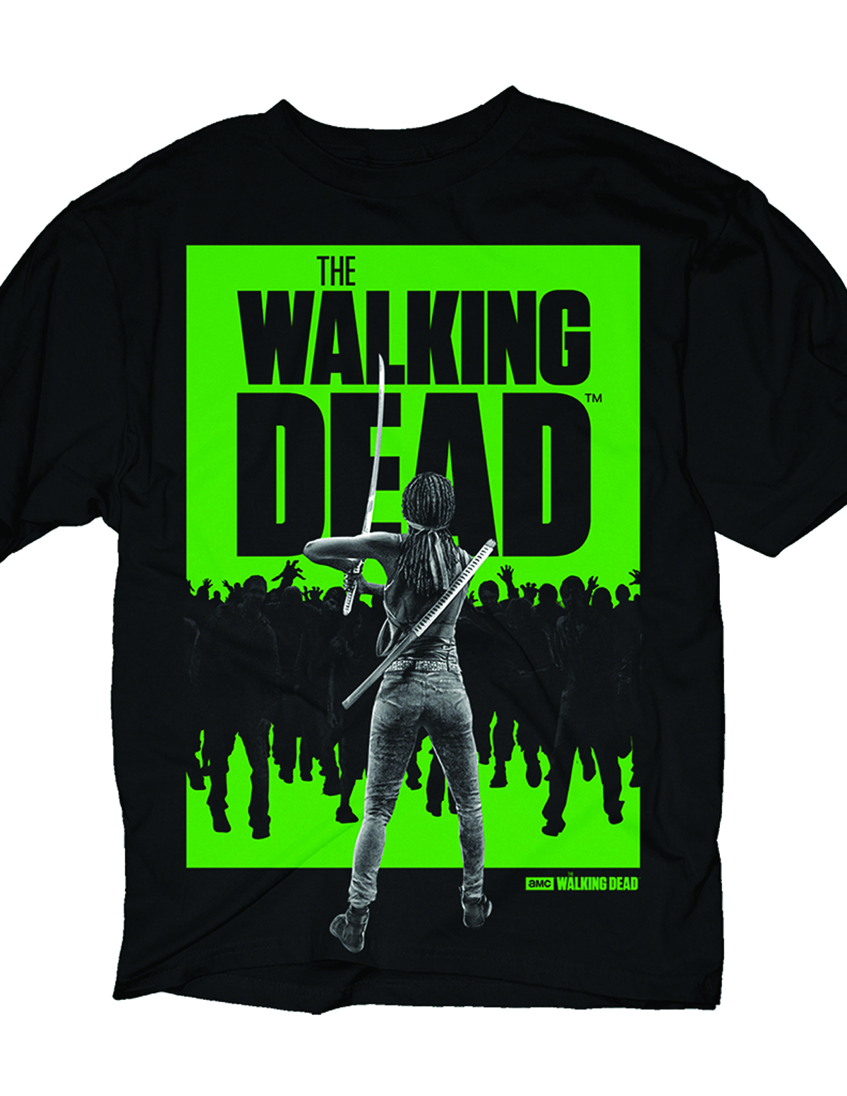 WALKING DEAD MICHONNE WALKER PX BLK T/S LG
