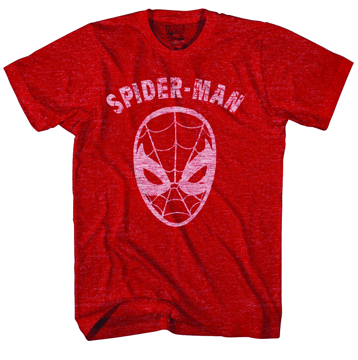 SPIDER-MAN INVERSE ICON PX RED HTHR T/S LG