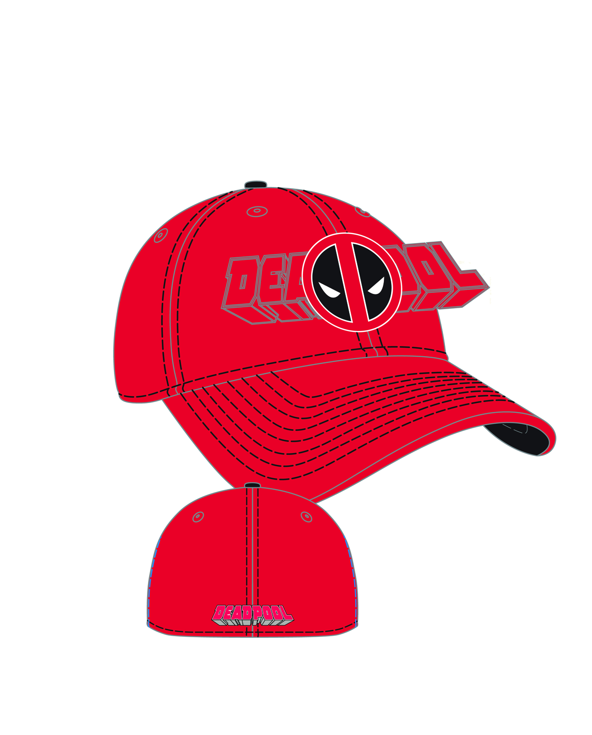 DEADPOOL WORD CLASSIC PX STRETCH FIT CAP