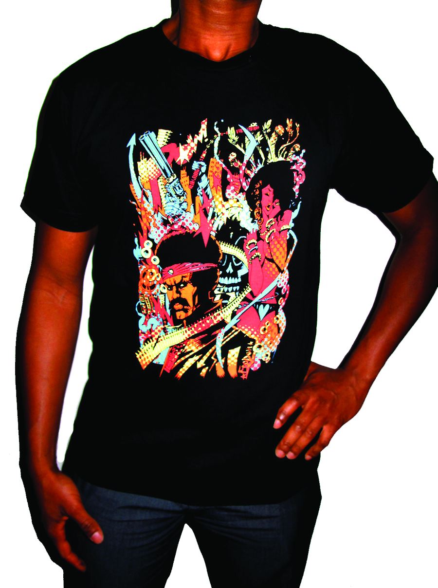BLACK DYNAMITE PSYCHEDELIC FREAKOUT T/S LG