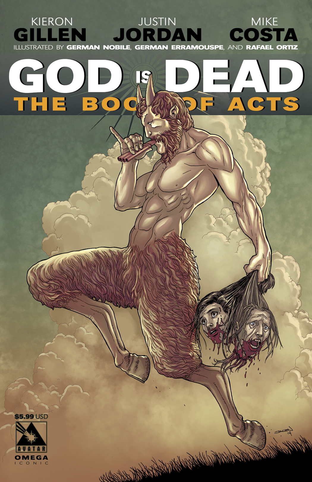 GOD IS DEAD BOOK OF ACTS OMEGA ICONIC CVR