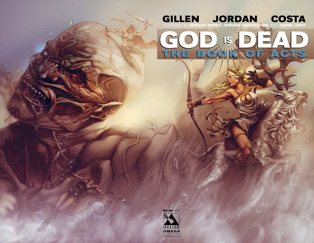 GOD IS DEAD BOOK OF ACTS OMEGA CARNAGE WRAP CVR
