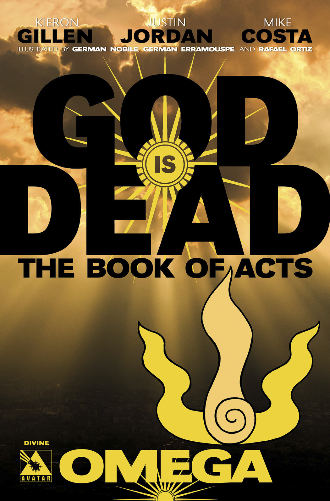 GOD IS DEAD BOOK OF ACTS OMEGA DIVINE RETAILER ORD INCV