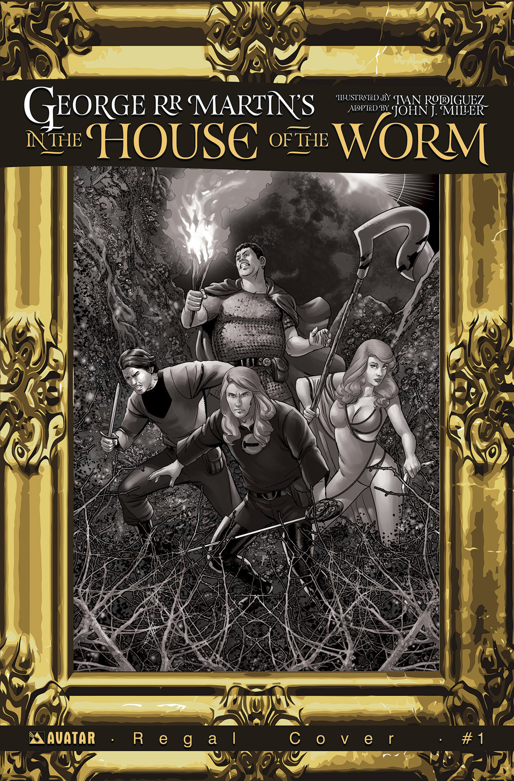 GEORGE RR MARTIN IN THE HOUSE O/T WORM #1 REGAL INCV CVR