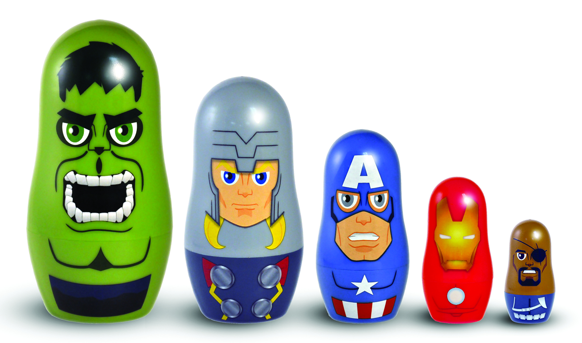 MARVEL AVENGERS NESTING DOLL SET