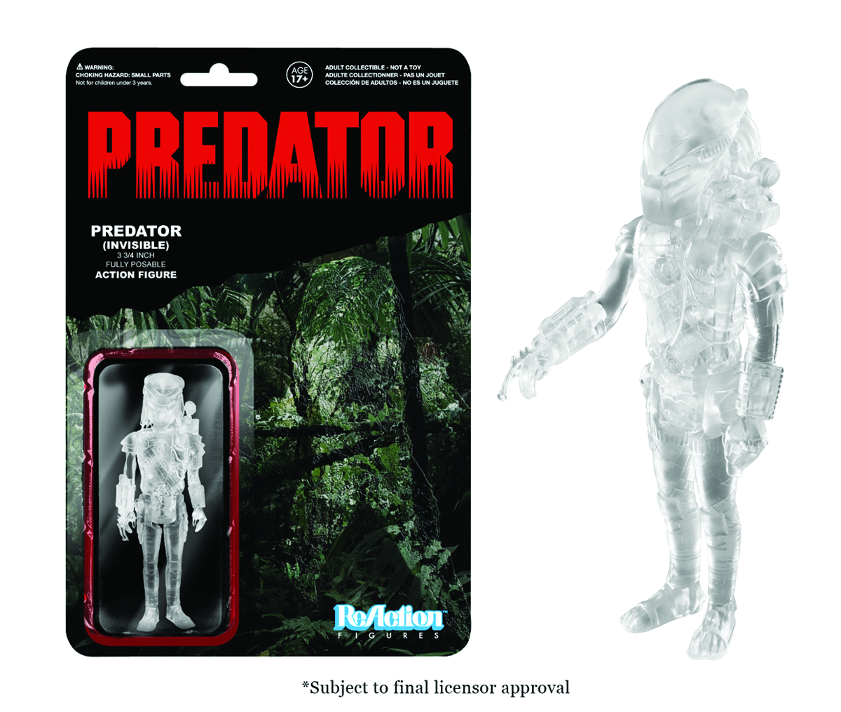 REACTION PREDATOR CLEAR MASKED PREDATOR FIG