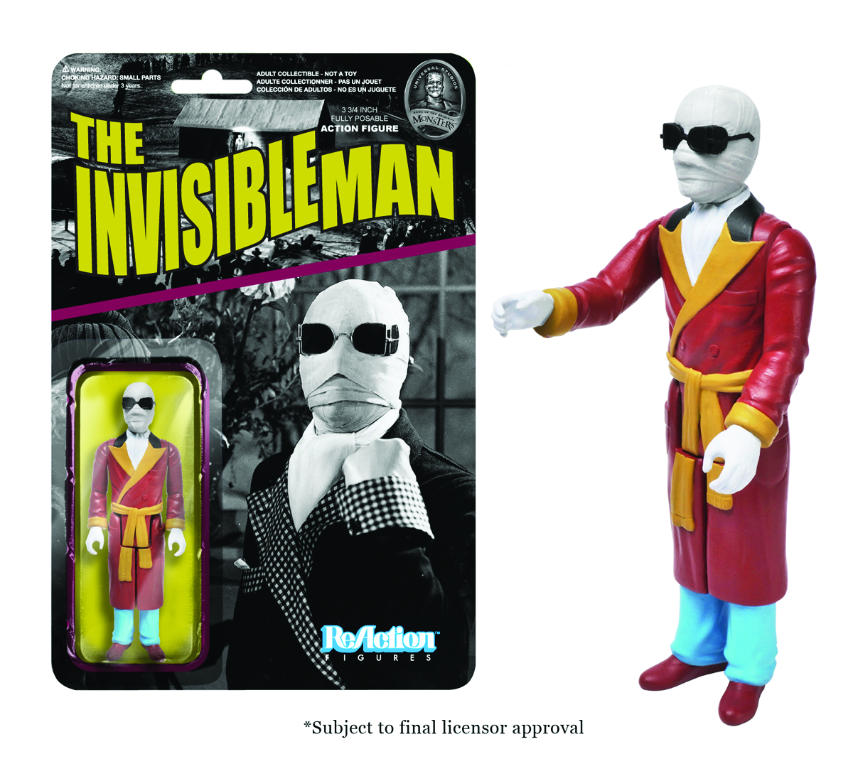 REACTION UNIV MONSTERS INVISIBLE MAN FIG