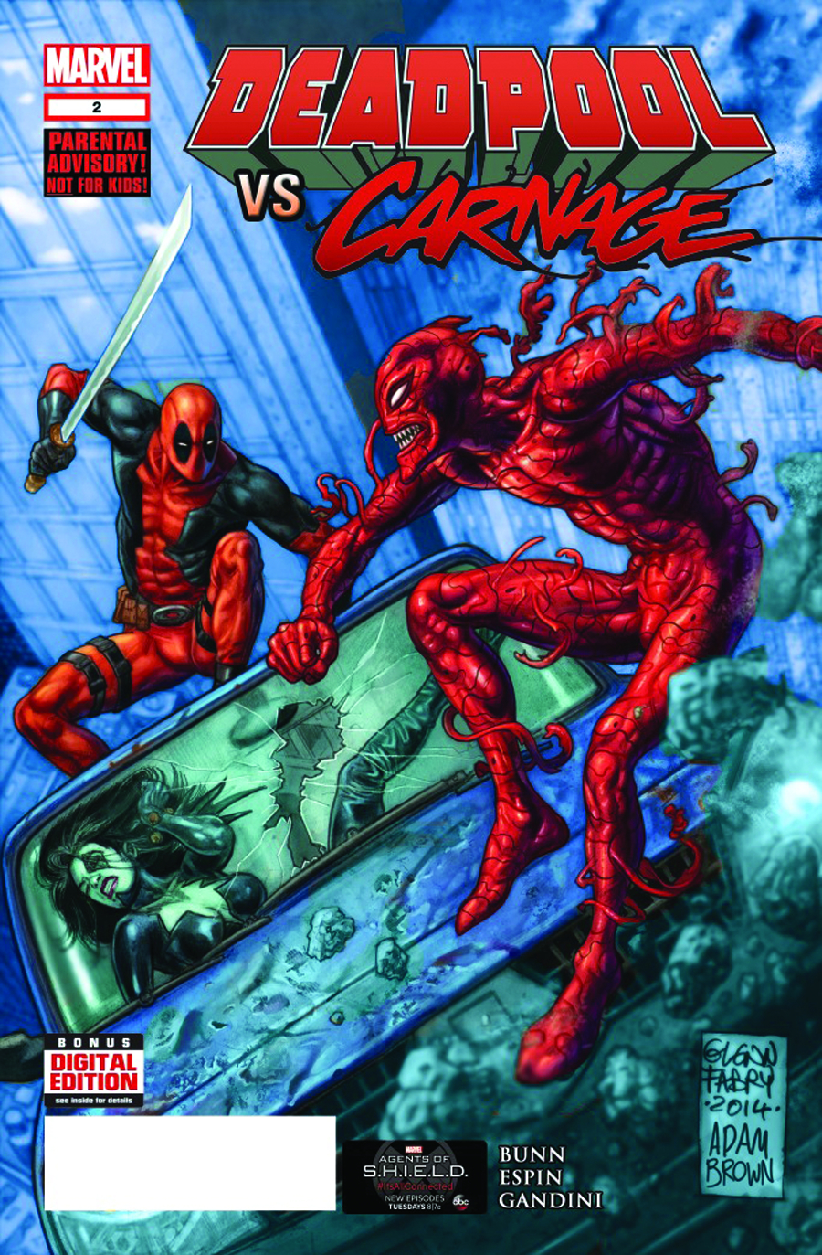 DEADPOOL VS CARNAGE #2 (OF 4) 2ND PTG FABRY VAR