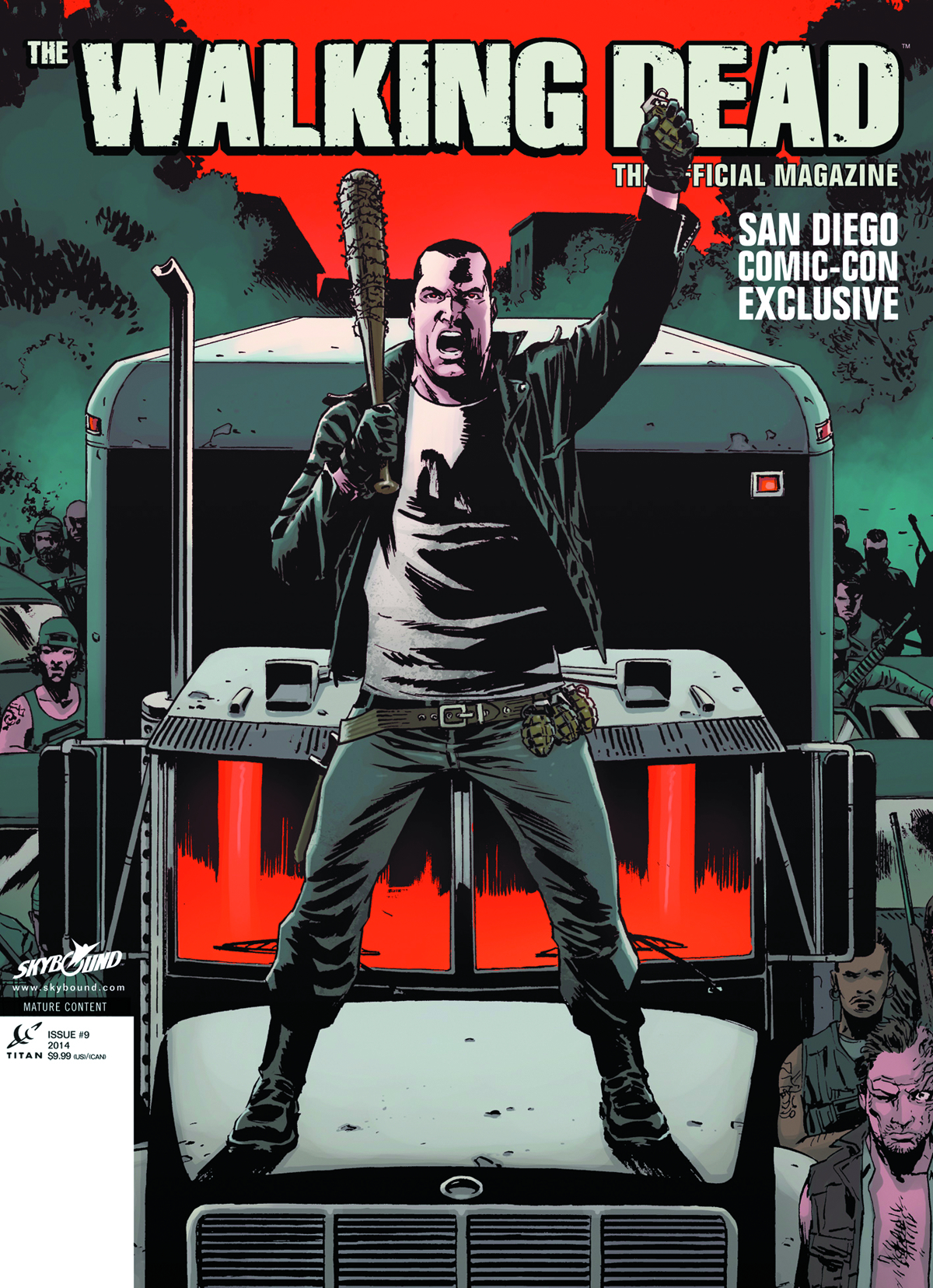 WALKING DEAD MAGAZINE #9 SDCC EXCLUSIVE COVER