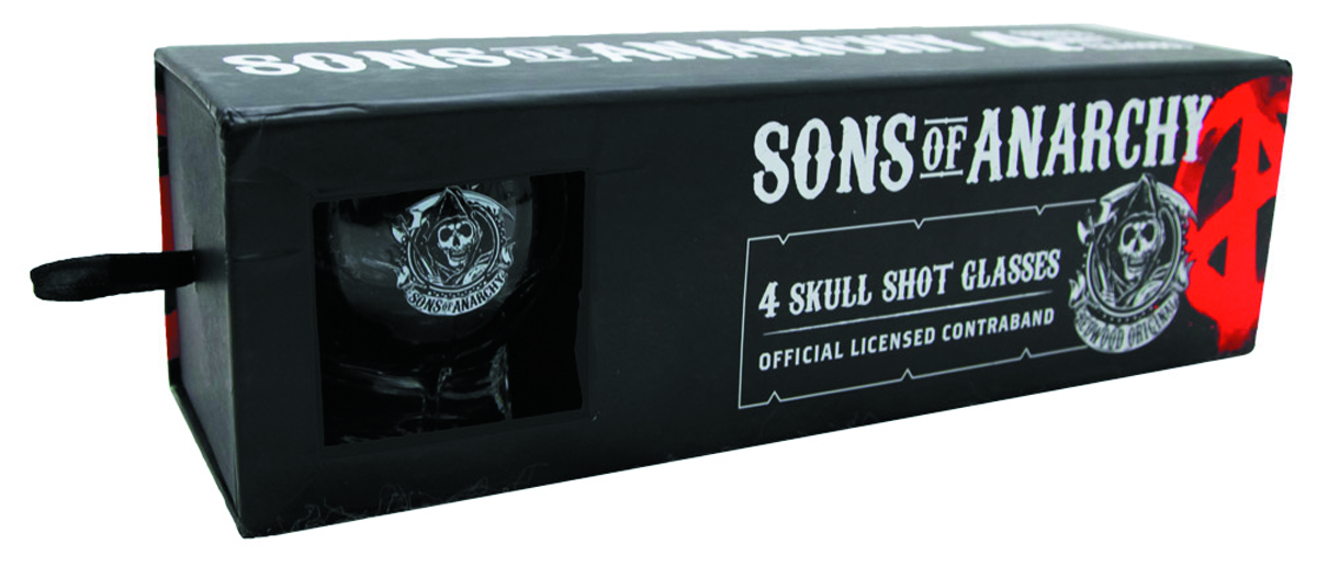 SONS OF ANARCHY SKULL SHOT GLASS 4PK SET