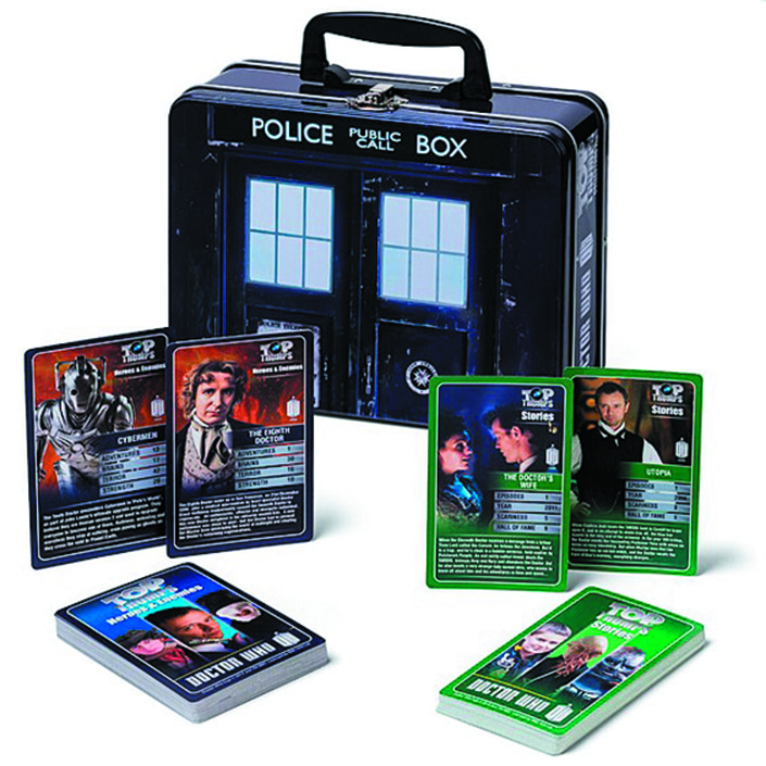TOP TRUMPS DOCTOR WHO TARDIS LUNCH BOX TIN