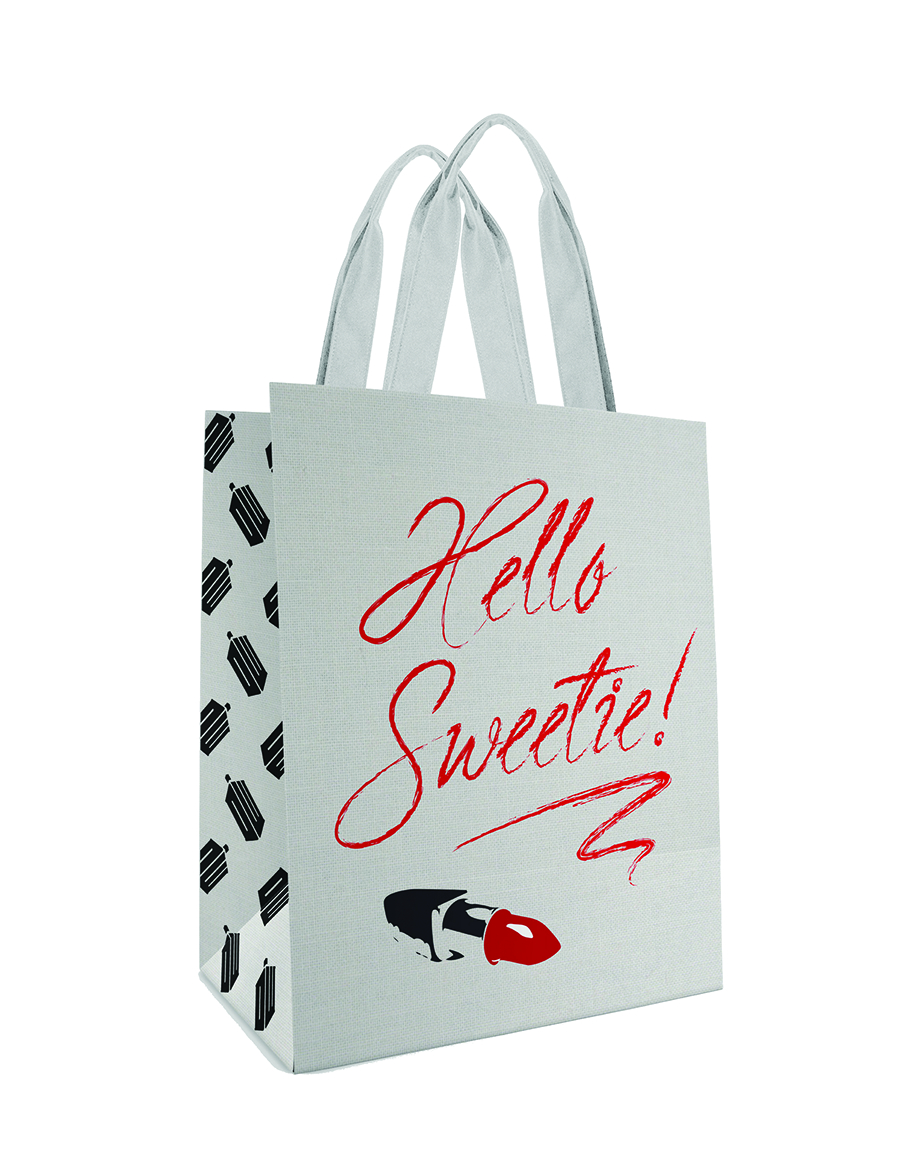 DOCTOR WHO HELLO SWEETIE WHITE LG TOTE BAG