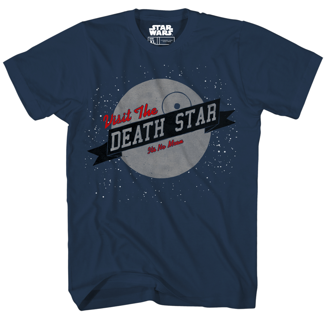 STAR WARS VISIT US NAVY T/S XL