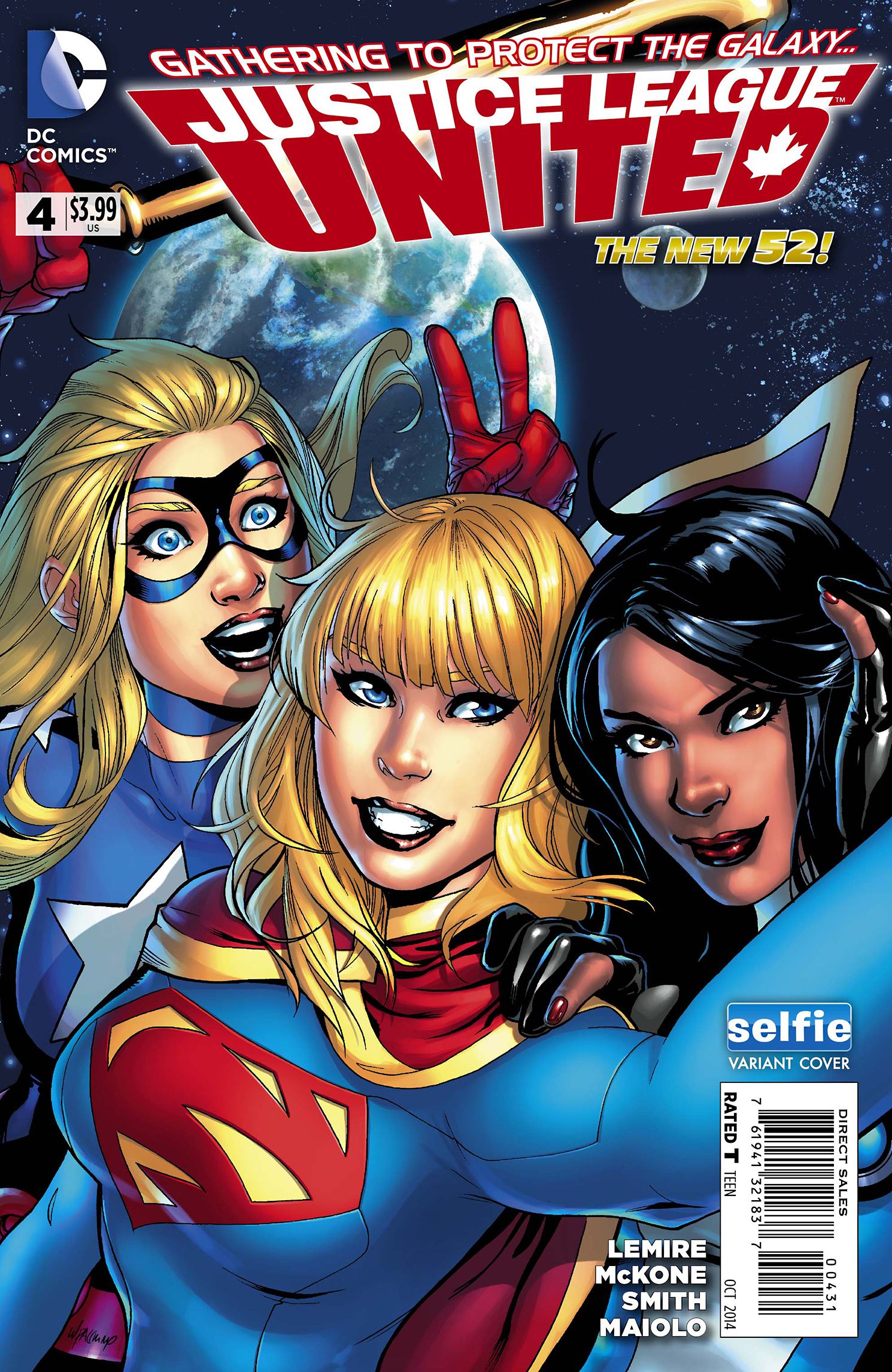JUSTICE LEAGUE UNITED #4 DCU SELFIE VAR ED