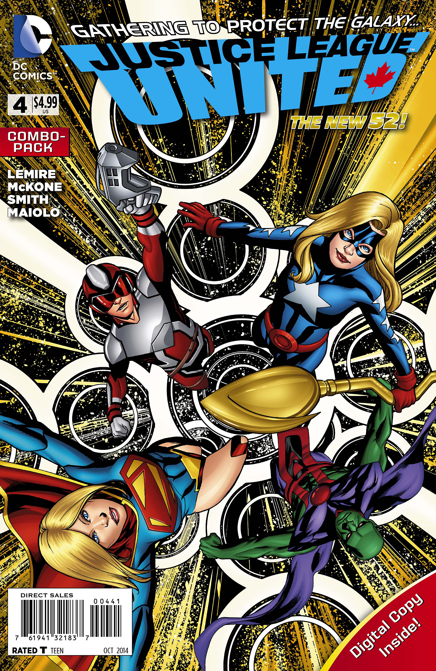 JUSTICE LEAGUE UNITED #4 COMBO PACK