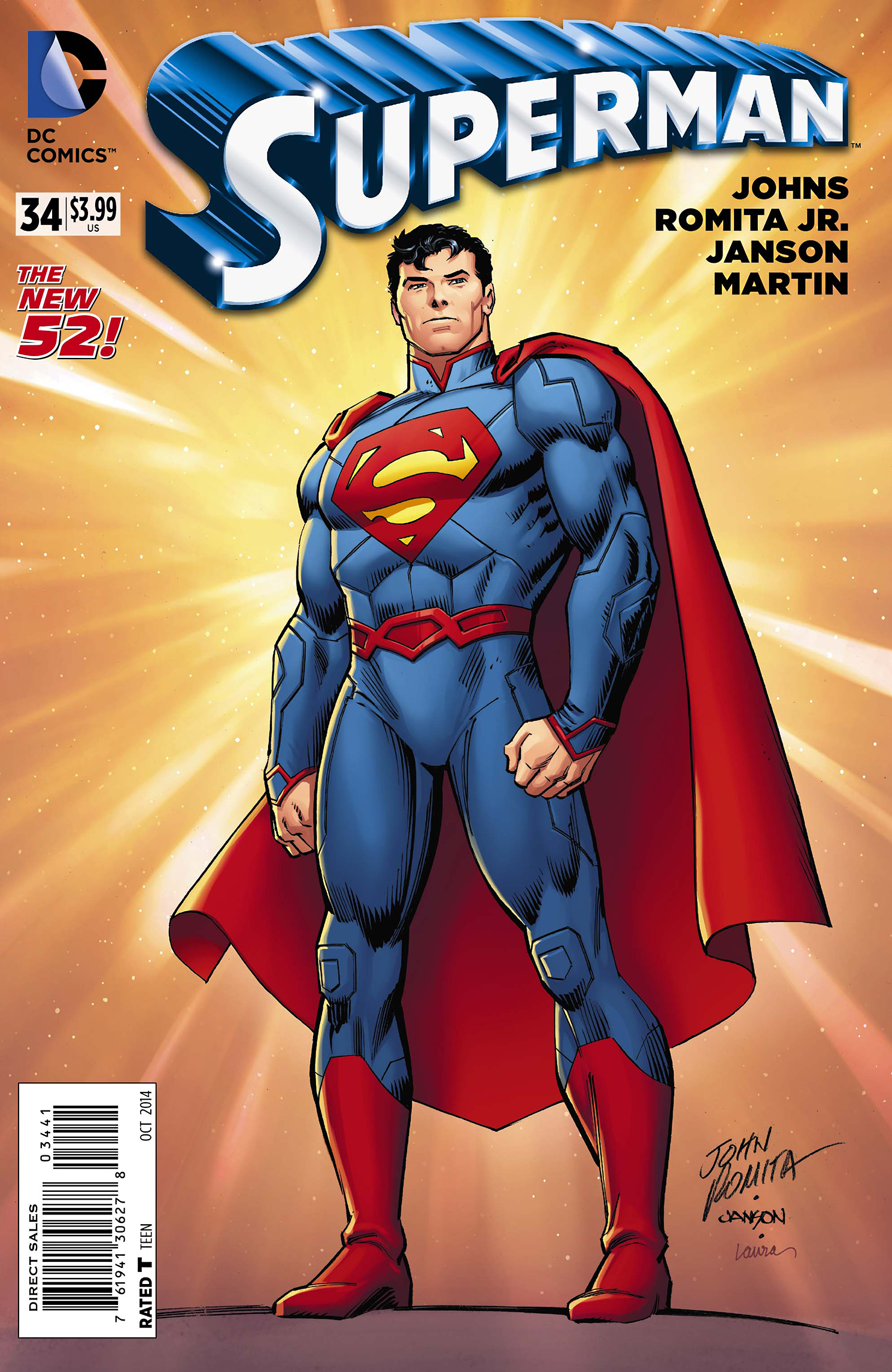 SUPERMAN #34 100 COPY INCV VAR