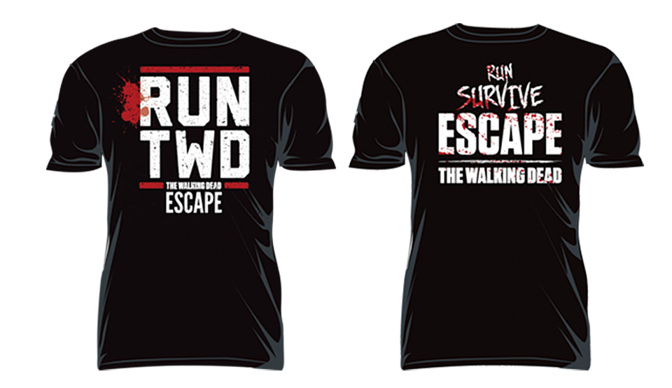WALKING DEAD ESCAPE T/S MED