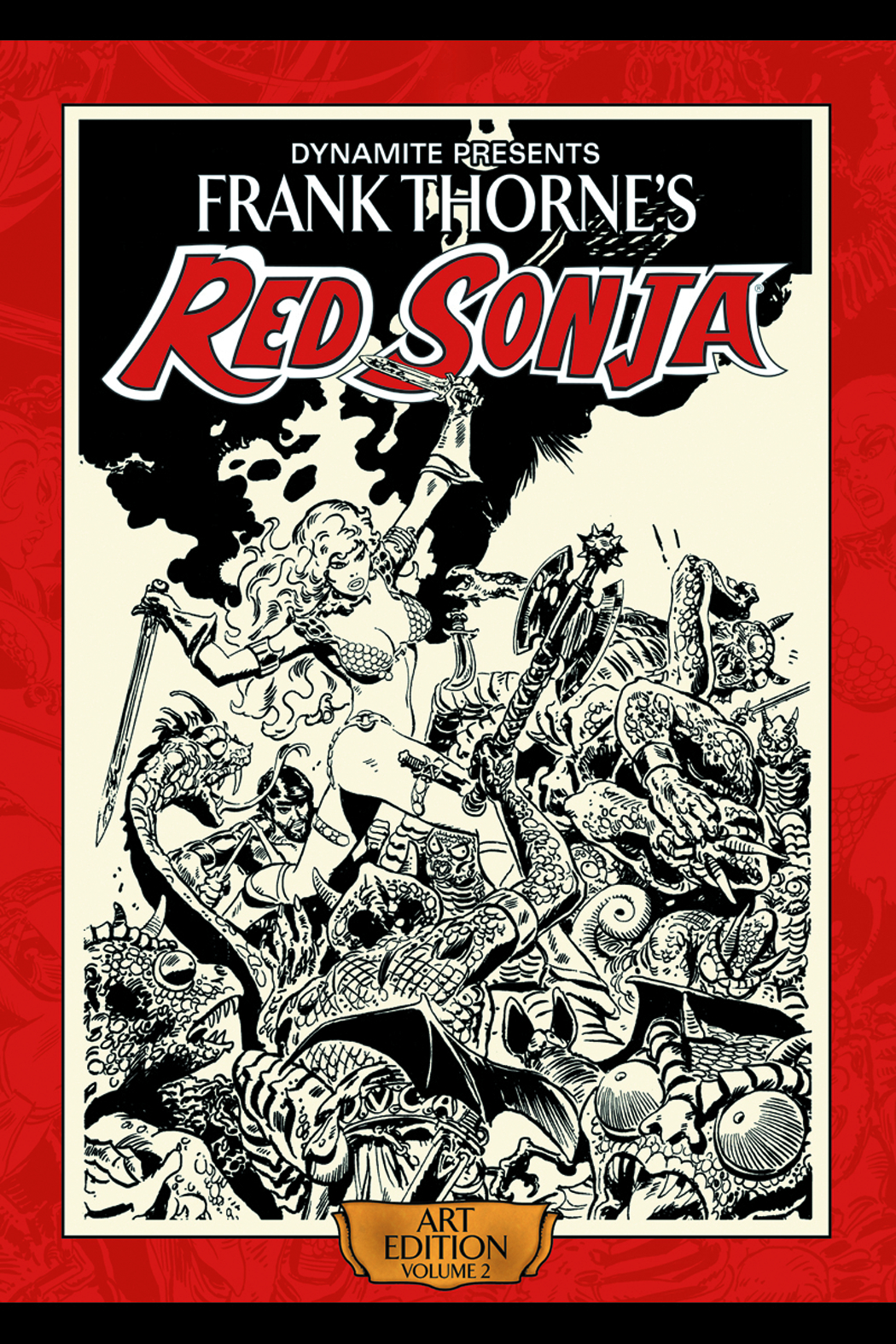 FRANK THORNE RED SONJA ART ED HC SGN VOL 02