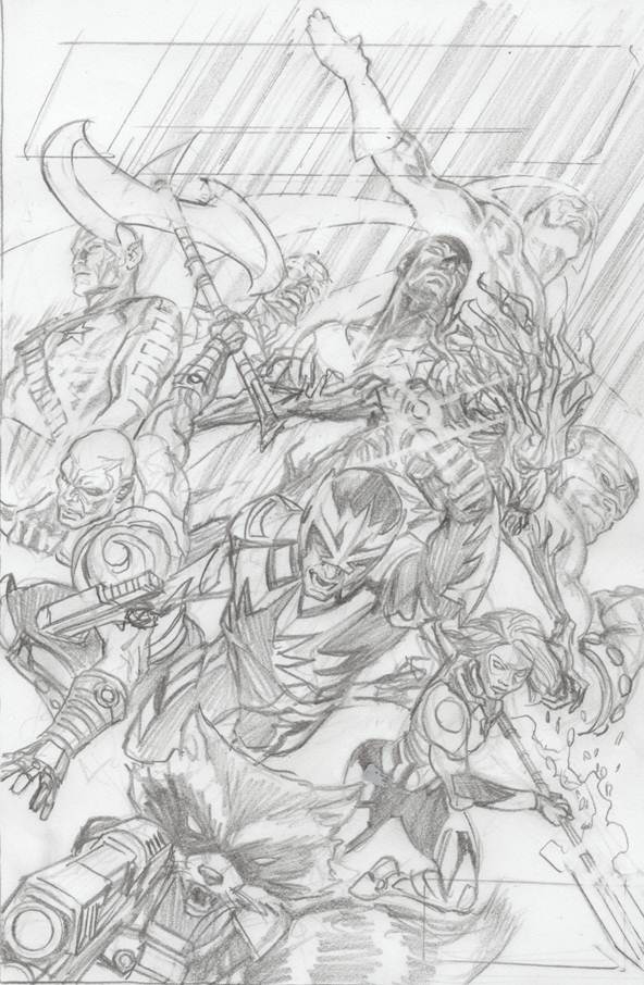 GUARDIANS OF GALAXY #18 ROSS SKETCH 75TH ANNIV VAR SIN