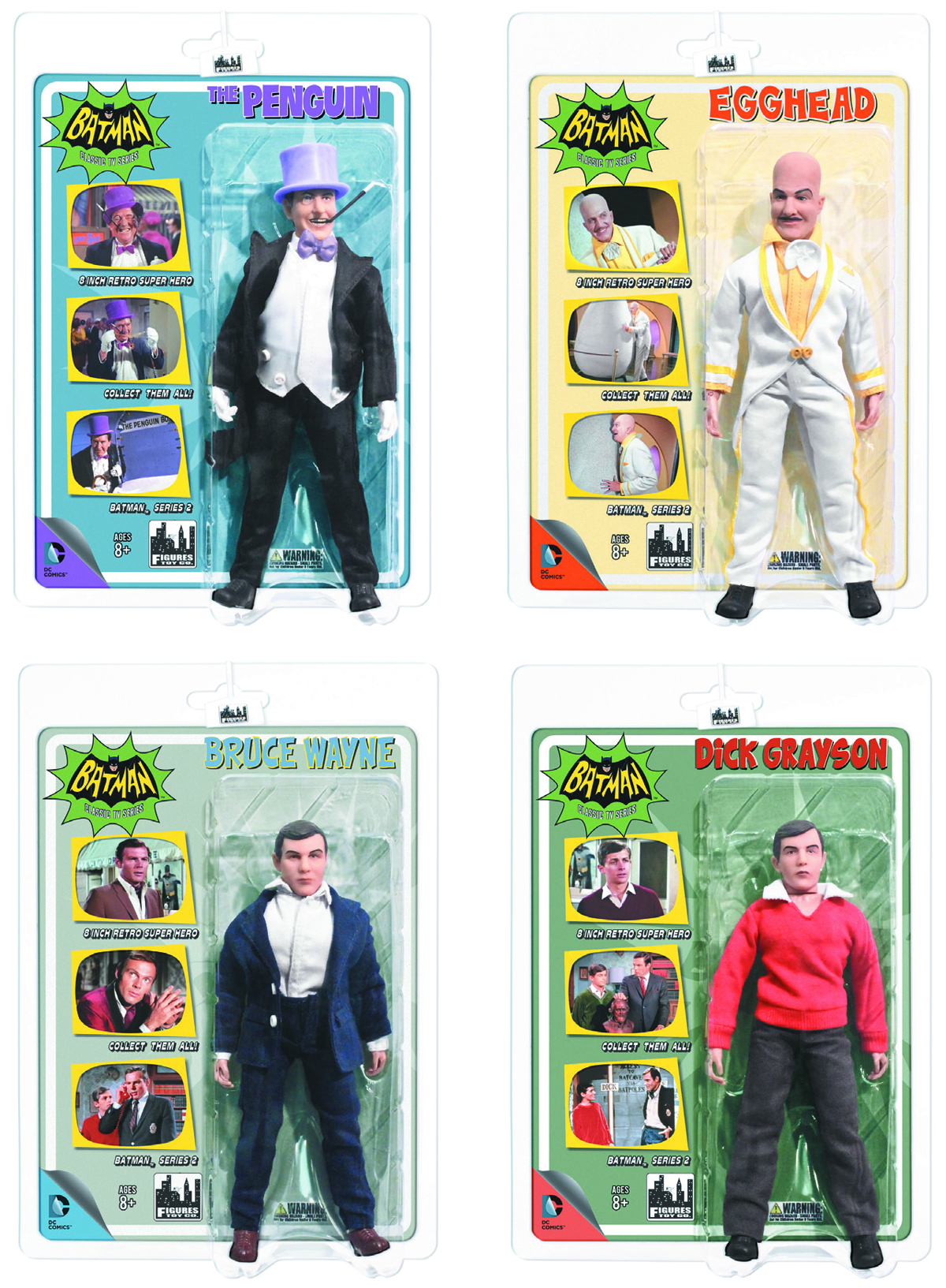 BATMAN RETRO 1966 TV SERIES SER 2 AF ASST