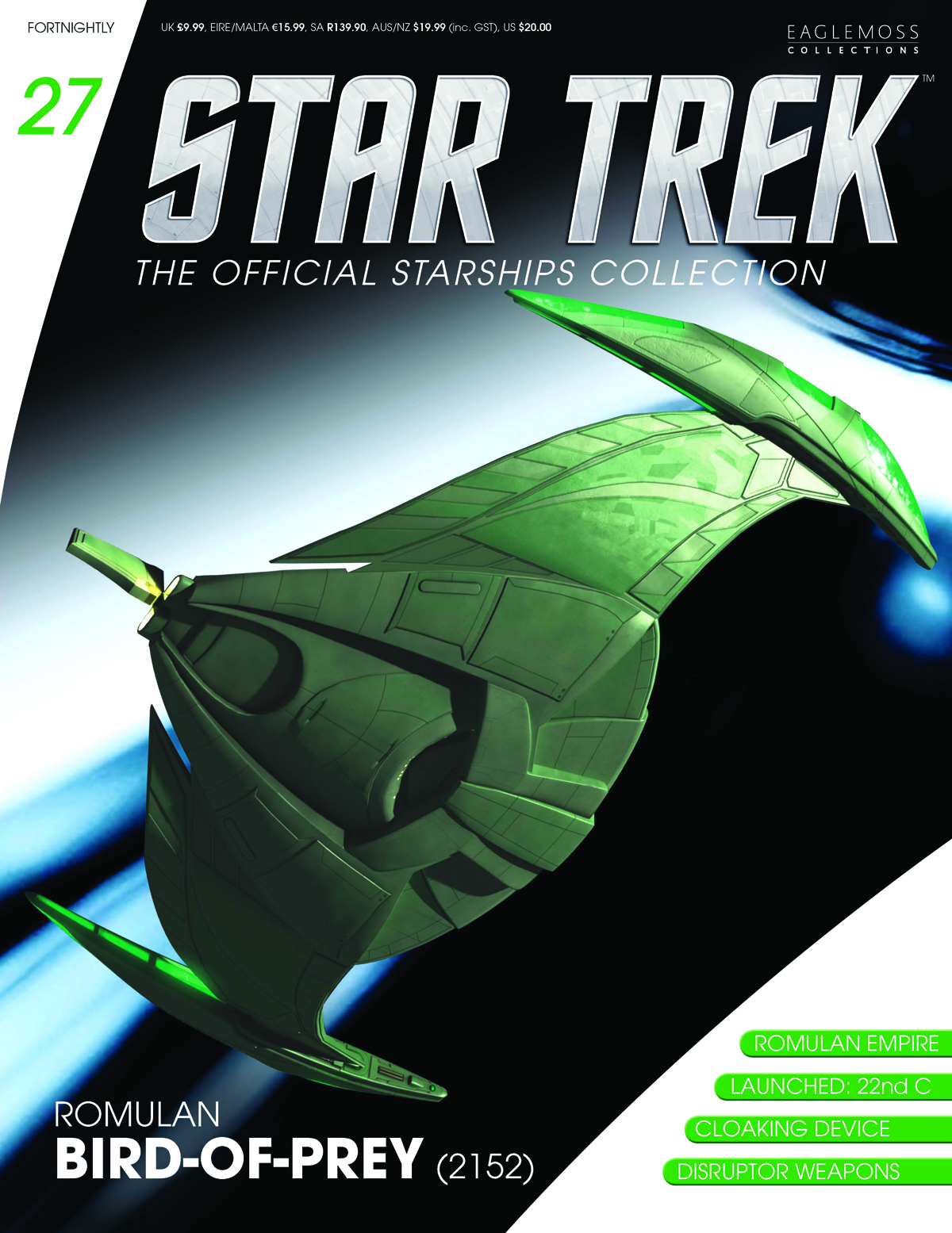 STAR TREK STARSHIPS FIG MAG #27 ROMULAN BIRD OF PREY 2152