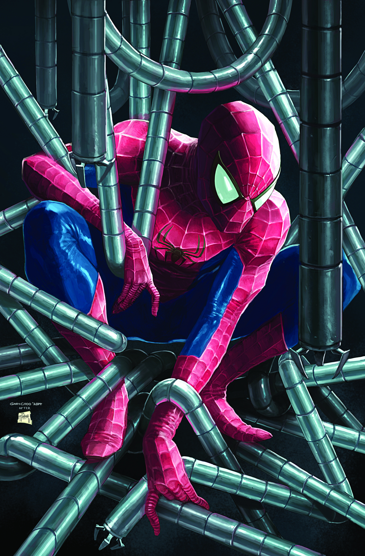AMAZING SPIDER-MAN #1 2ND PTG CHOO VAR ANMN