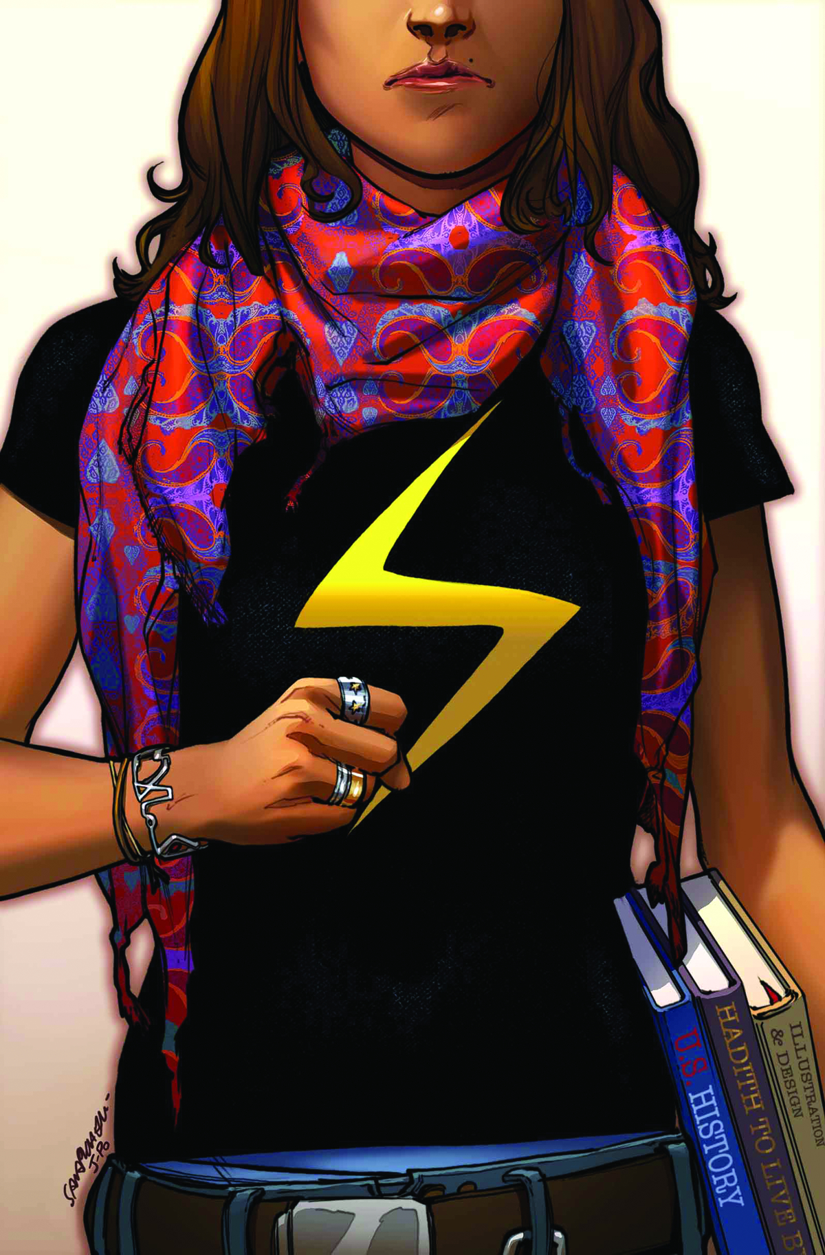 MS MARVEL #1 4TH PTG PICHELLI VAR ANMN