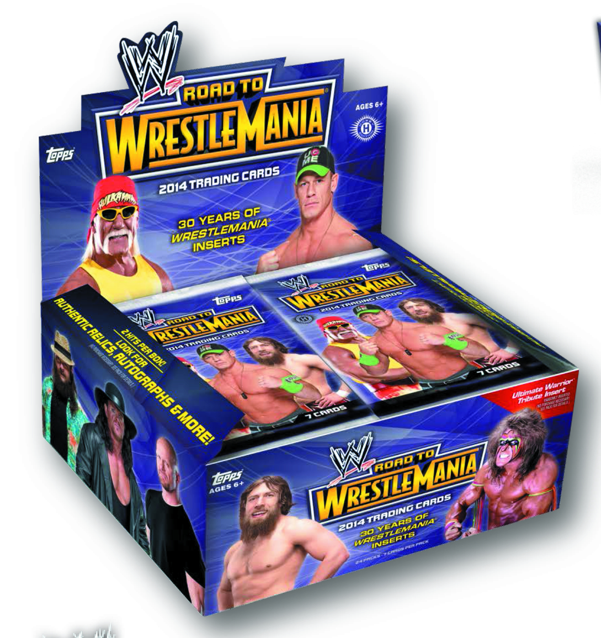 TOPPS 2014 WWE ROAD TO WRESTLEMANIA T/C BOX