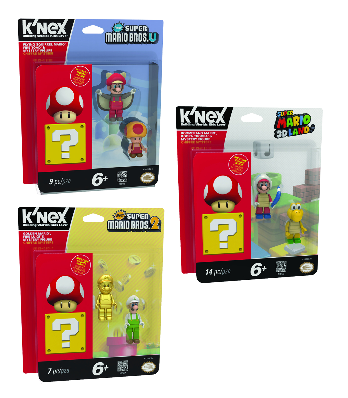 KNEX SUPER MARIO 3-PACK SERIES 3 FIGURE ASST