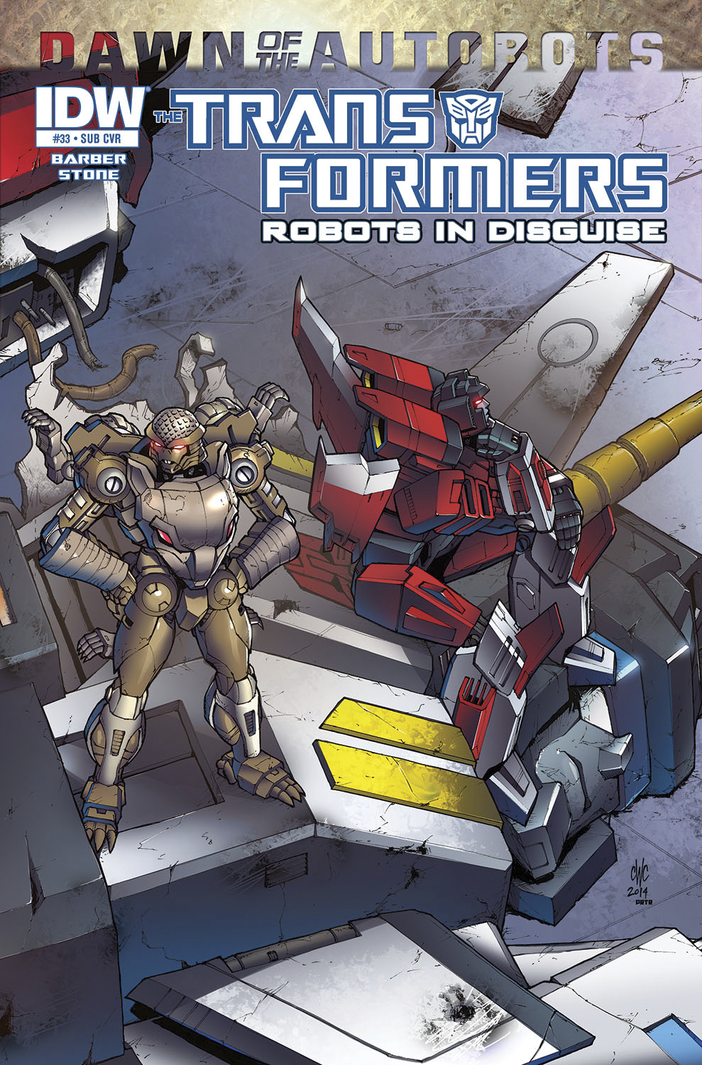 TRANSFORMERS ROBOTS IN DISGUISE #33 SUBSCRIPTION VAR
