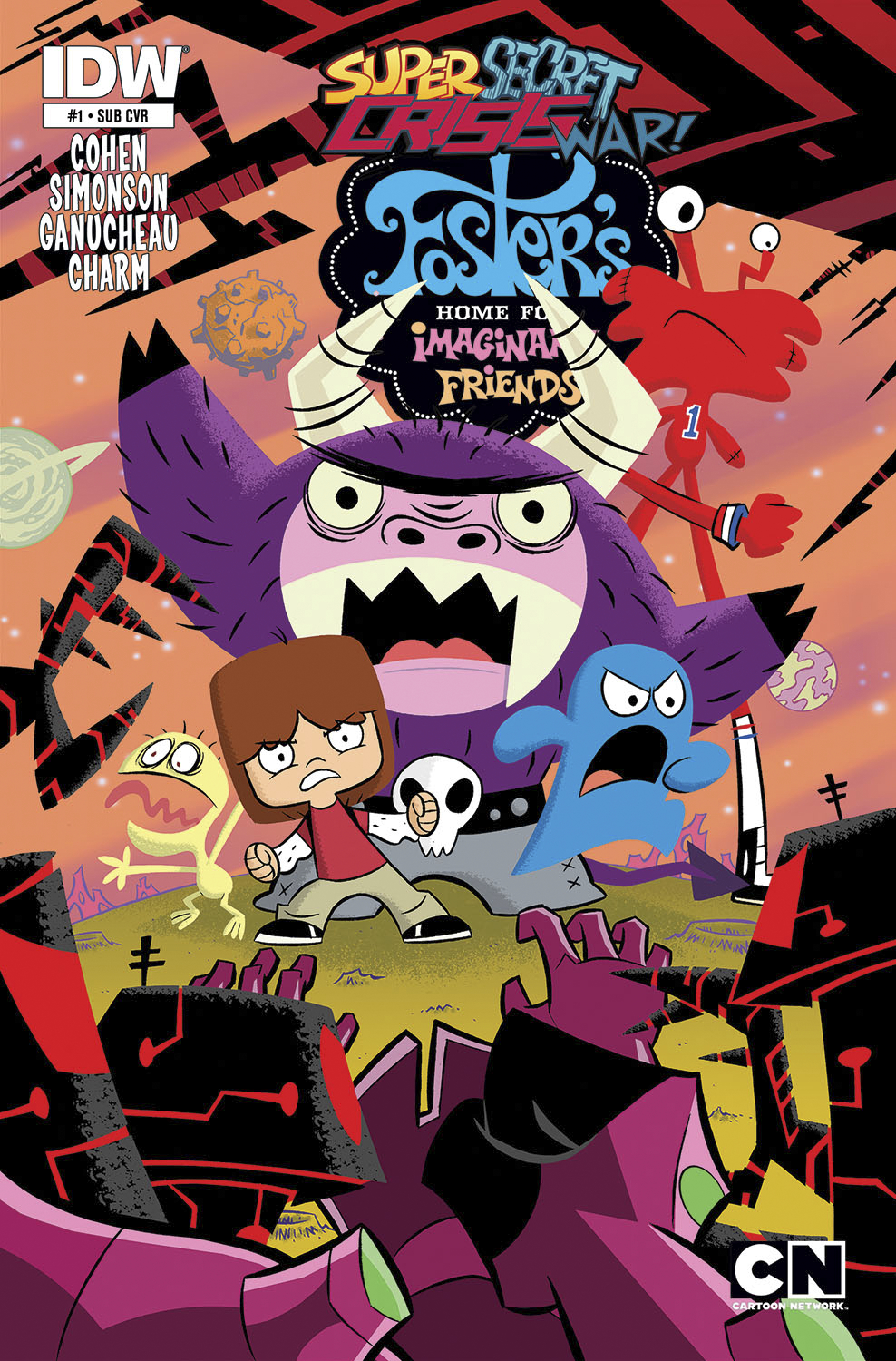 SSCW FOSTERS HOME FOR IMAGINARY FRIENDS #1 SUBSCRIPTION VAR