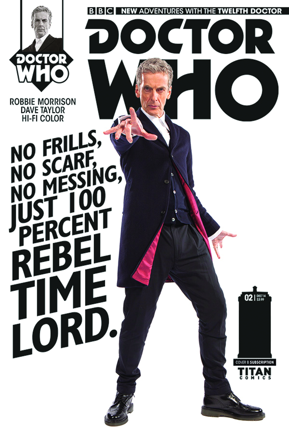 DOCTOR WHO 12TH #1 SUBSCRIPTION PHOTO
