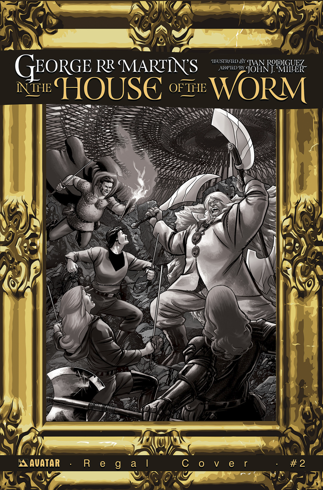 GEORGE RR MARTIN IN THE HOUSE O/T WORM #2 REGAL INCV CVR