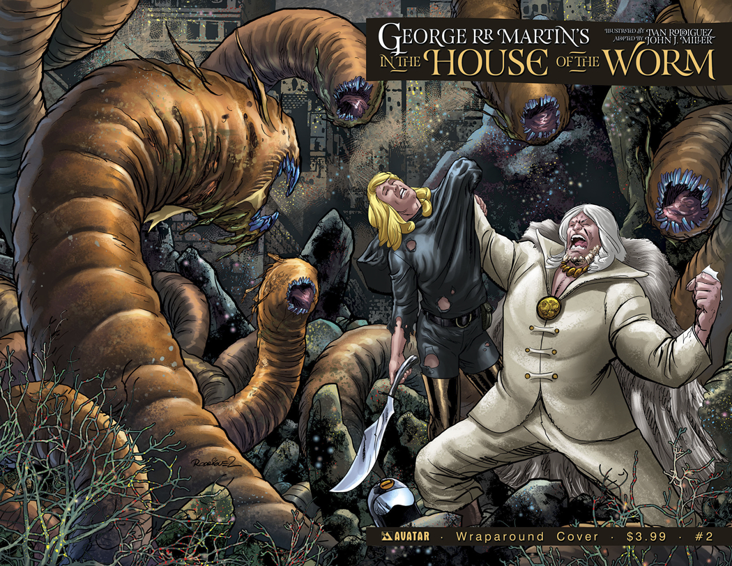 GEORGE RR MARTIN IN THE HOUSE O/T WORM #2 WRAP CVR