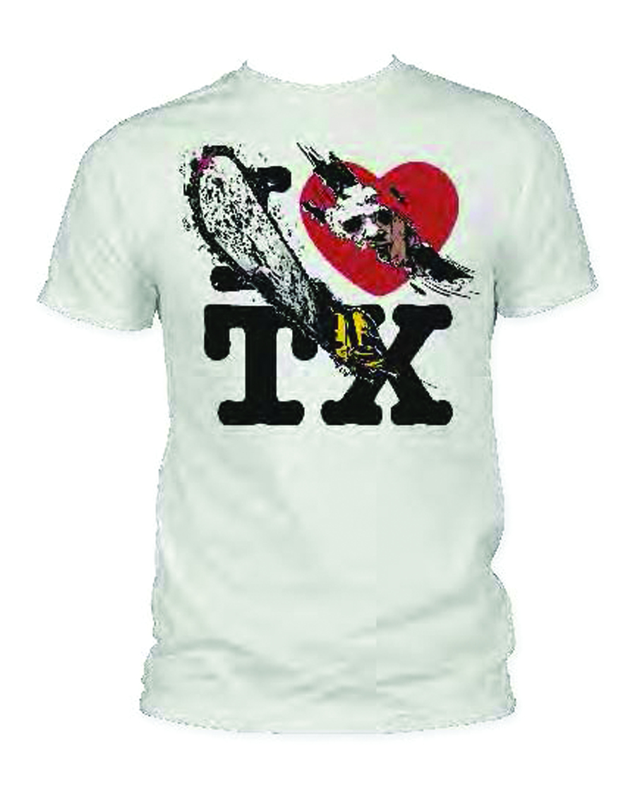 TEXAS CHAINSAW MASSACRE I HEART TX PX VINT WHT T/S MED